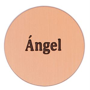 Picture of 'Angel' Large Rose Gold Coin